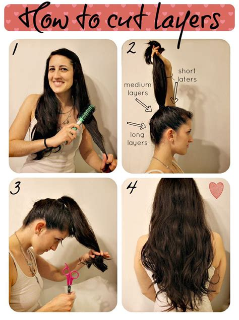 how to style hair 5 easy ways to layer cut your own hair at home