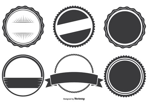 assorted badge shapes set download free vector art stock graphics images