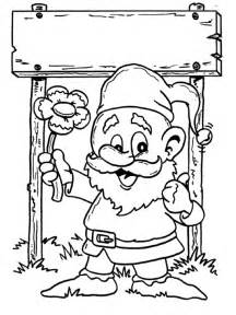 gnome coloring pages coloringpages1001