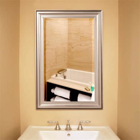 2020 popular brushed nickel wall mirrors for bathroom