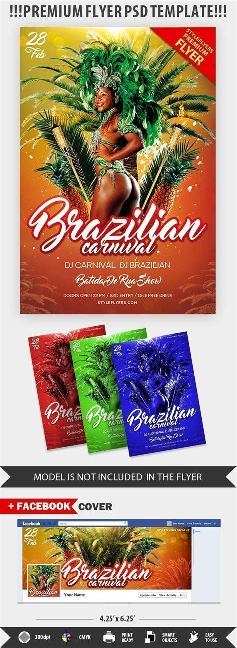 brazilian carnival flyer template brazilian carnival psd flyer template 22626 styleflyers
