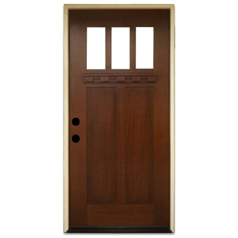 front doors home depot steves sons 36 in x 80 in shaker 3 lite stained