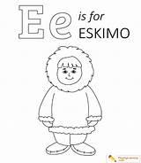 Eskimo Coloring Igloo Math Playinglearning Activities sketch template