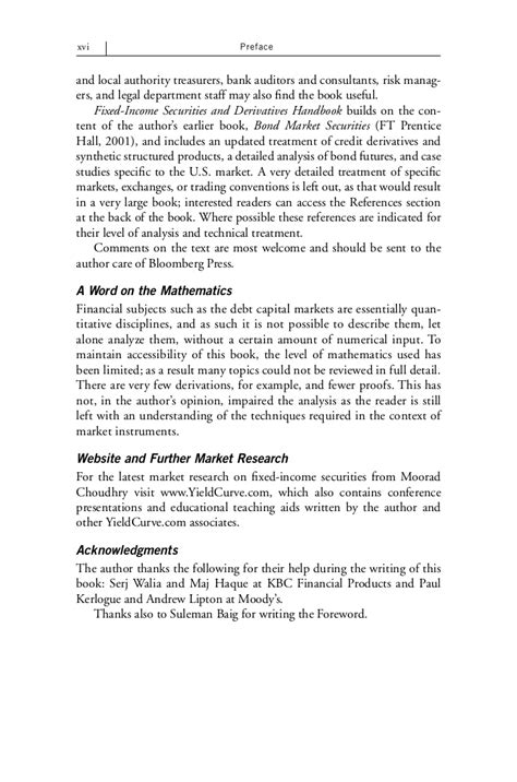 fixed income securities resume fixed income securities and derivatives handbook analysis and valuati