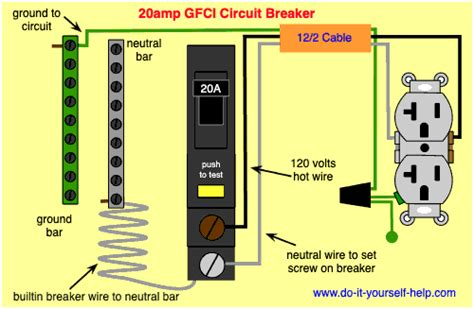 Wiring Diagram For Gfci by Circuit Breaker Wiring Diagrams Do It Yourself Help