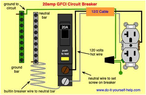 50 Gfci Breaker Wiring Diagram by Circuit Breaker Wiring Diagrams Do It Yourself Help
