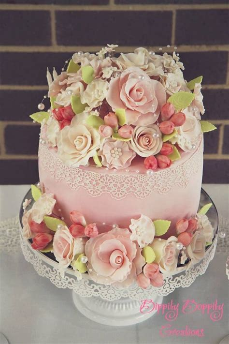 shabby chic themed wedding cake shabby chic themed birthday party via kara s party ideas full of decorating ideas cakes