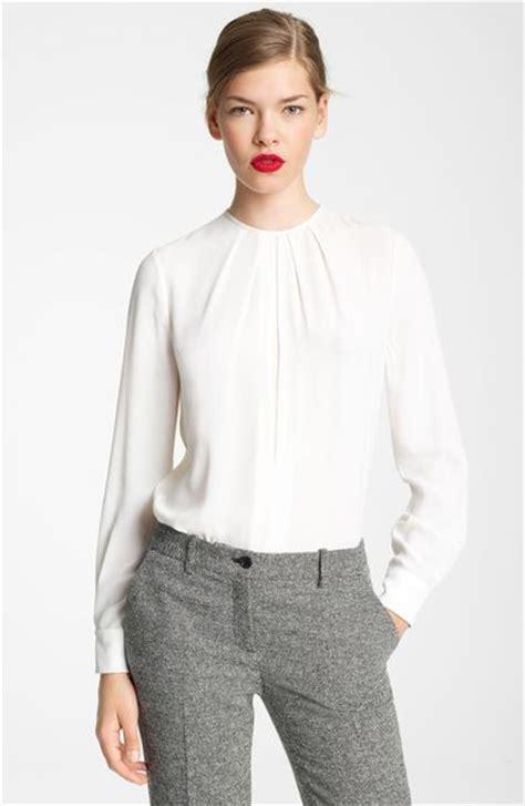 silk white blouse michael kors silk georgette blouse in white optic white