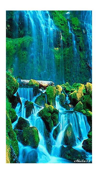 Nature Waterfall Cool Water Very Landscapes Motion