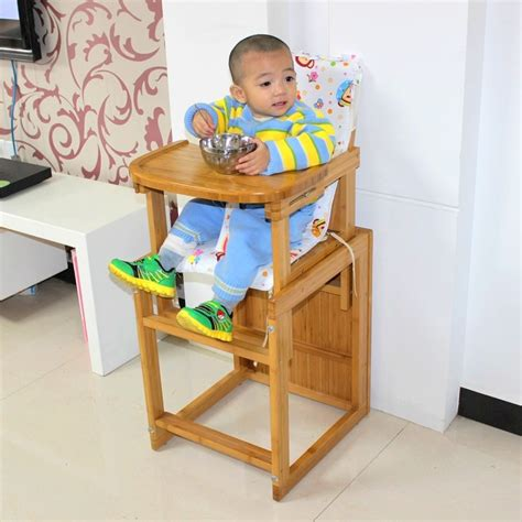 bamboo child dining chair solid wood baby dining chair