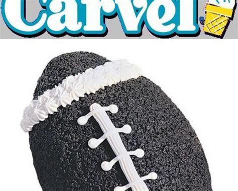 deal   large football shaped ice cream cake