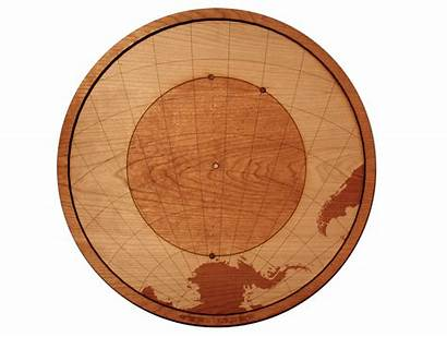 Wood Point Nemo Circle Map Wooden Vector