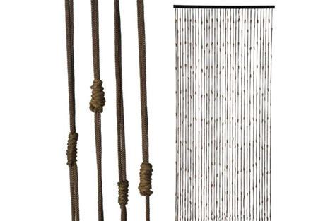 rideau de porte nœuds de corde 90x200cm rideaux pas cher