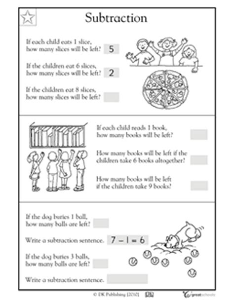 1st grade math worksheet subtraction word problems our 5 favorite prek math worksheets word problems