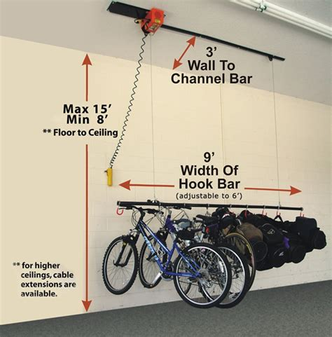 Electric Ceiling Mount Bike Lift by Garage Storage And Organization Nashville Tennessee