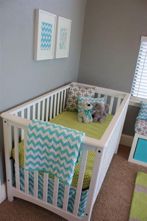 Aqua, Gray, & Green Baby Boy Nursery  Project Nursery