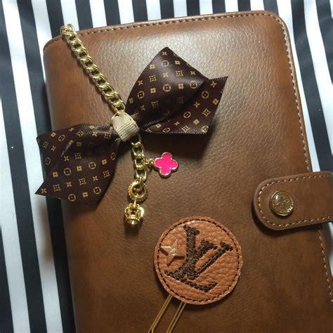 lv agenda planner charm planner tassel louis vuitton inspired mm gm charm planner paper clip