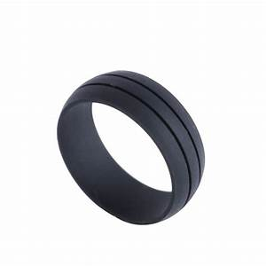 flexible silicone rubber wedding band ring men women With rubber wedding rings
