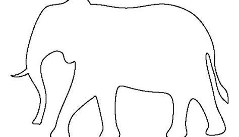 elephant pattern   printable outline  crafts