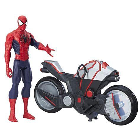 upc 630509492350 marvel spider man titan hero series spider man figure with spider cycle