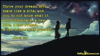 Into Space Dreams Throw Kite Know Quotes