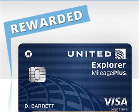 united explorer card     mile bonus