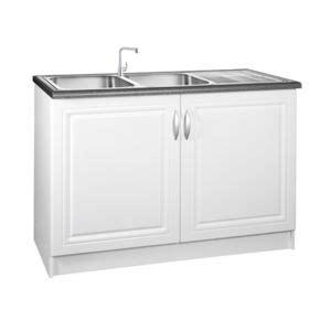 meuble sous evier cuisine 120 cm meublesline meuble de cuisine bas 120 cm sous evier dina