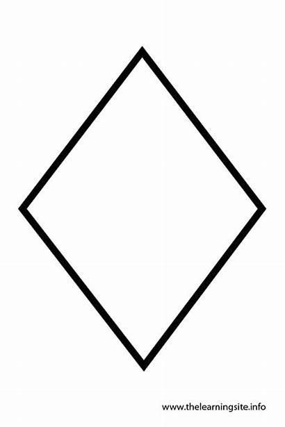 Diamond Shape Shapes Outline Template Templates Coloring