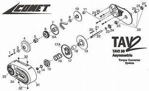 10  219278a Comet Tav2 30 Series Sheave Stationary Half 3  4 U0026quot     Comet Torque