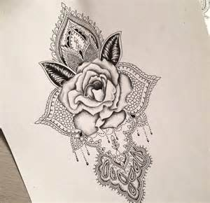 Mandala Rose Tattoo Design