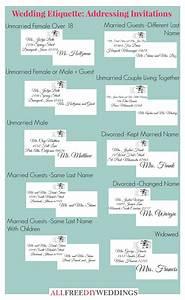 wedding invitation etiquette how to address wedding With wedding invitation etiquette name order