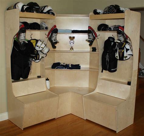 Sports Corner In The Boys Room by Corner Locker 2 Hockey Equipment Stalls Lr Hockey In