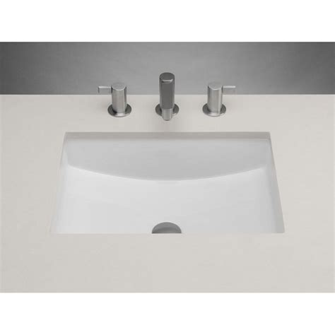 white undermount kitchen sink ronbow rectangle ceramic undermount bathroom sink in white 1480