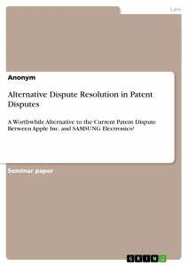 alternative dispute resolution paper topics