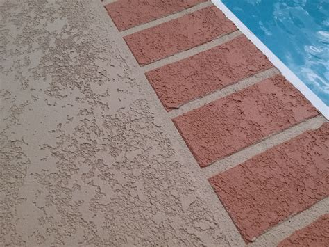 new deck coating with brick pattern sider crete inc