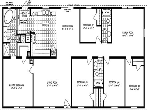 bedroom mobile home floor plans  bedroom double wides