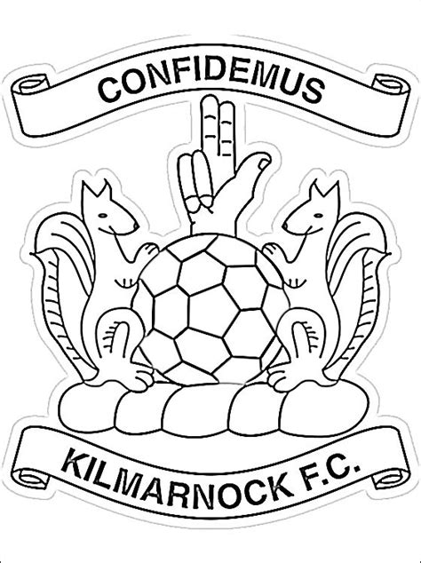 coloring page  kilmarnock fc logo coloring pages