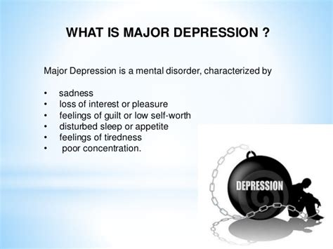 Depression Disorders Major Depressive Disorder And Its Treatment