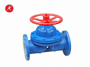Fluorine Lined Weir Type Diaphragm Valve For Water  G41fep