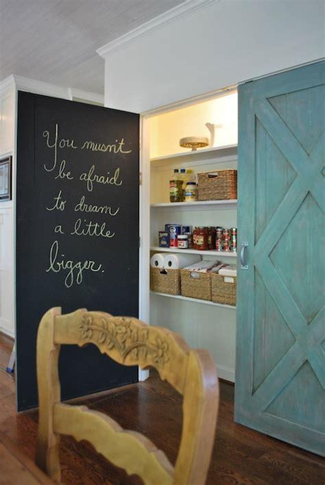 Chalkboard Pantry Doors   Cottage   kitchen   Annie Sloan