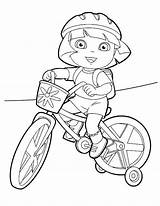 Coloring Bike Pages Dirt Dora Helmet Riding Printable Printables Motorcycle Mountain Getcolorings Explorer Rides Col Colorings Doratheexplorertvshow Popular sketch template
