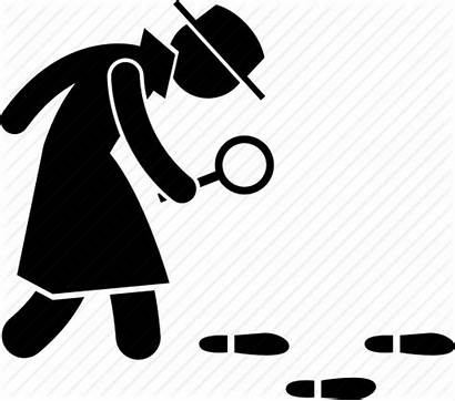 Detective Icon Searching Clipart Footprint Cartoon Transparent