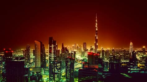 wallpaper burj khalifa dubai cityscape night