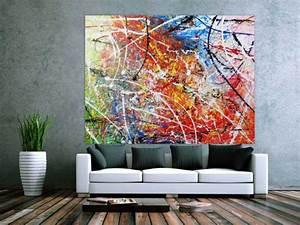 Bilder Acryl Modern : abstraktes acrylbild gem lde bunt modern sehr gro auf leinwand 150x200cm ~ Sanjose-hotels-ca.com Haus und Dekorationen