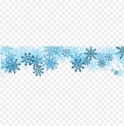 Transparent Background Snowflake Border by Blue Snowflakes Border Png Image With Transparent