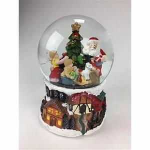 Boule De Neige Noel : boule de neige p re no l distribuant des cadeaux ~ Zukunftsfamilie.com Idées de Décoration