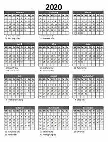 Customizable Planner Template Printable 2020 Excel Calendar Templates Calendarlabs