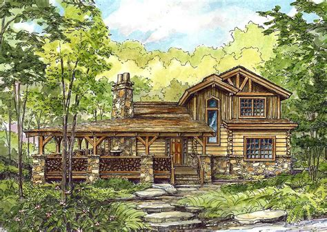 Huge Wrap Around Porch House plans Cabin house plans