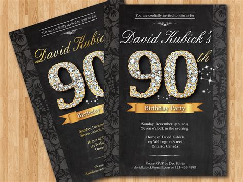 Free Printable 90th Birthday Invitations Bagvania FREE
