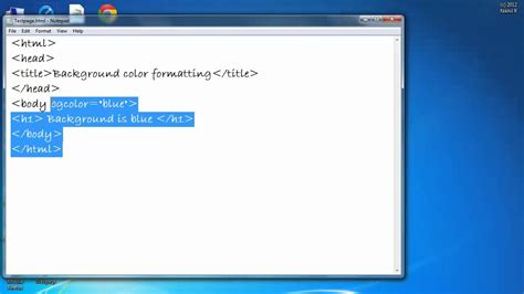 how to change the background color in html how to change the background colour of a webpage in html